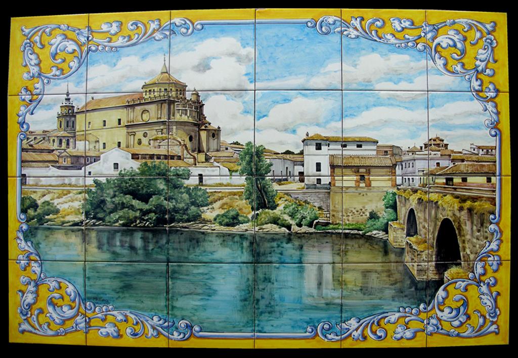 Ceramica de talavera de la reina azulejos pintados a mano - La reina del mueble talavera ...