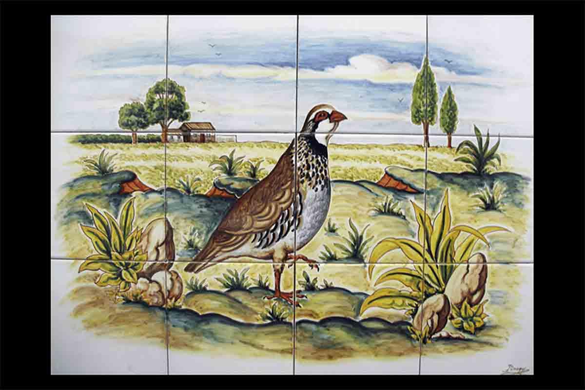 Azulejos pintados a mano Bodegon de talavera